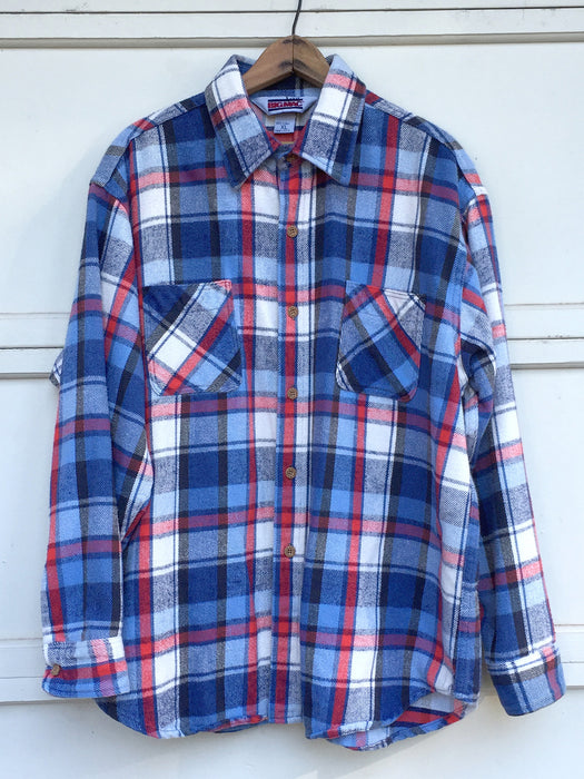Red, White & Blue Cozy Flannel XL