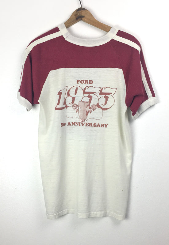 """Ford 50th Anniversary"" Paper Thin, Vintage Football Style Tee"