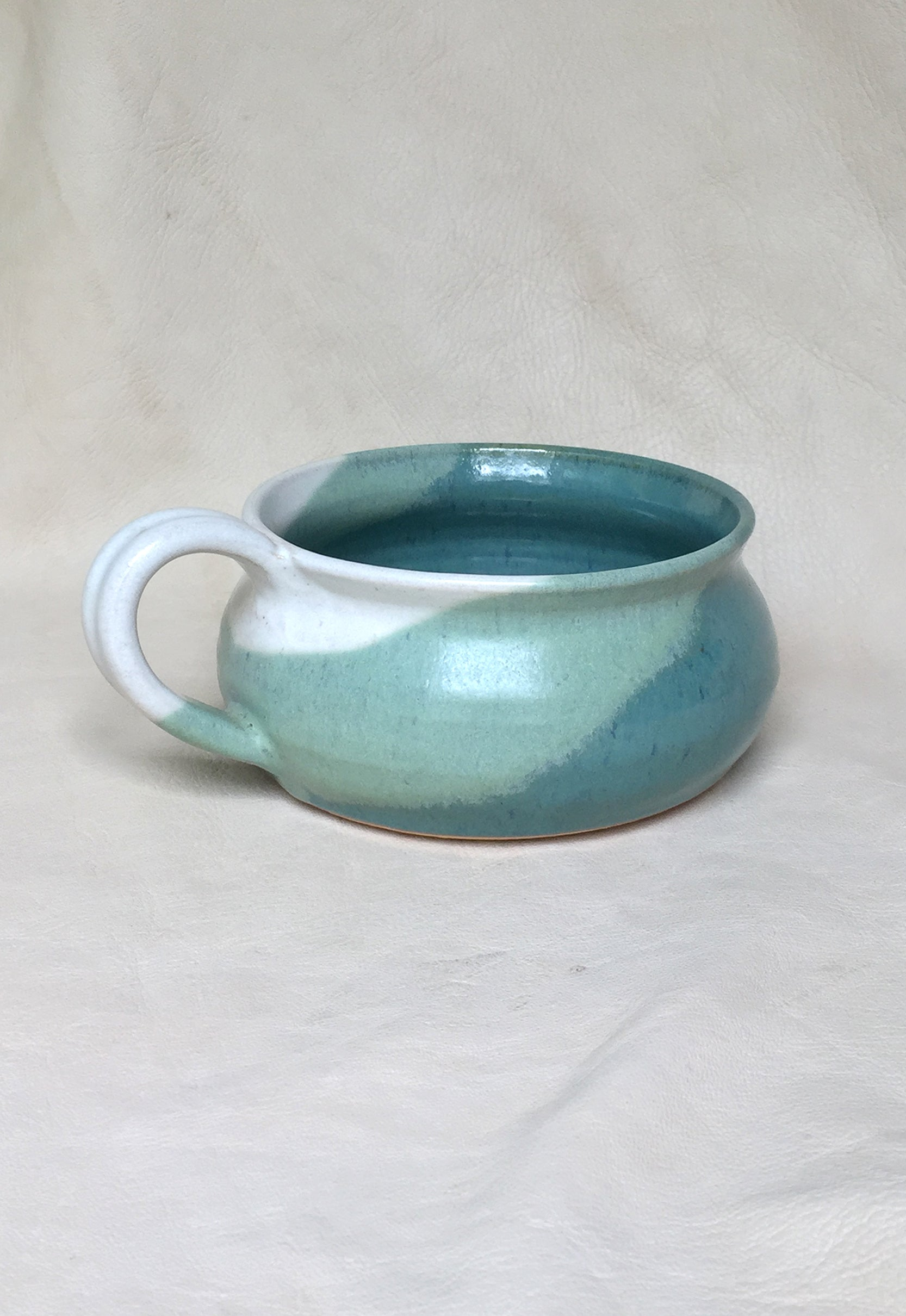 Hand Thrown Stoneware Bowl with Handle