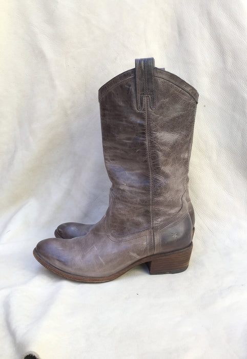 Gray Frye Carson Slouch Western Boots