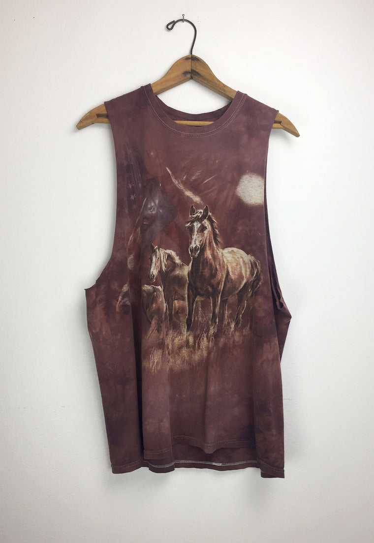 Crazy Soft Vintage 'Wild Horses' Cut-off Muscle Tee