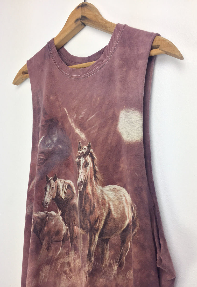 Vintage Super Soft Wild Horses Muscle Tee