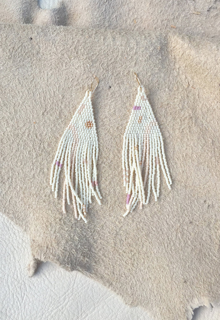 Studio Oma Beaded Statement Earrings Native American Inspired Modern Art Earrings