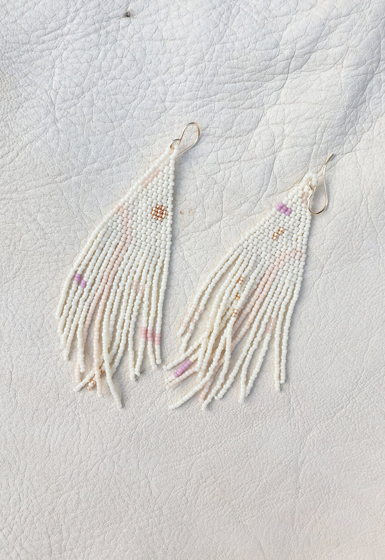 Iris Handwoven Beaded Earrings