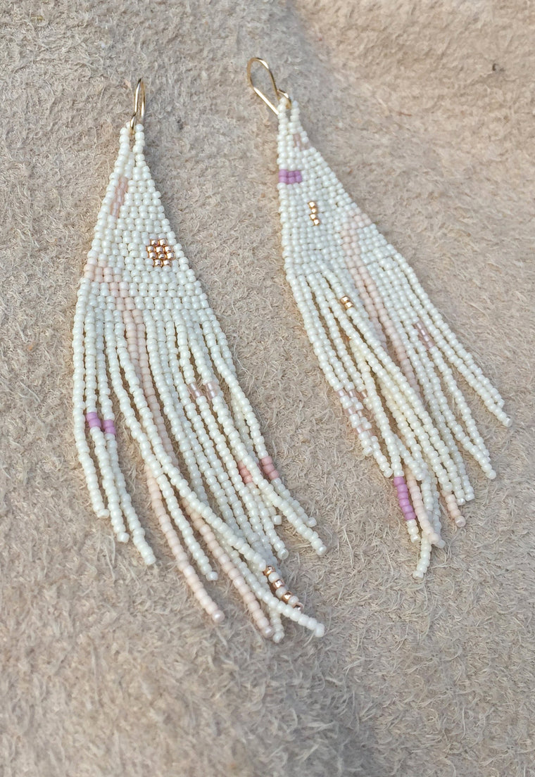 'Iris' Hand Beaded Earrings
