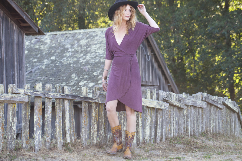 Dolman Sleeve Wrap Dress