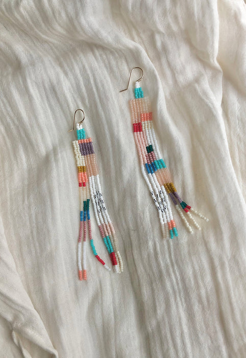 BriBol Beaded Statement Modern Art Earrings Idylwild