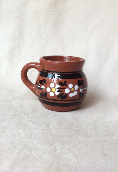 Mexican Folk Art Terracotta Mug