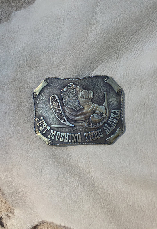 R. Crumb Mr. Natural Just Passin' Thru Alaska Vintage 70's Belt Buckle