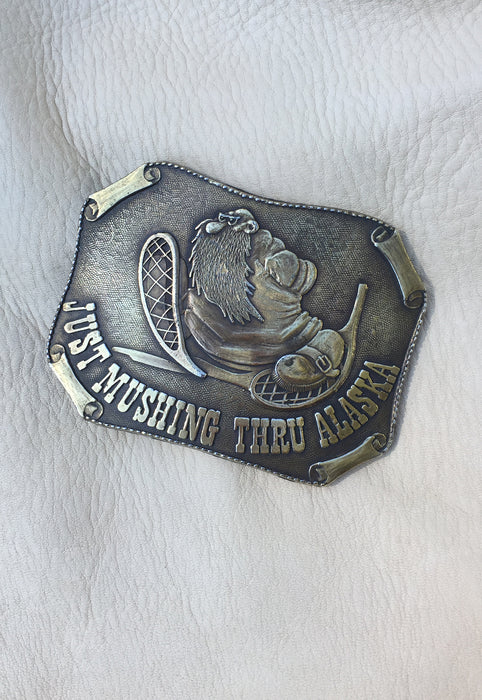 R. Crumb Mr. Natural Just Passin' Thru Alaska Vintage 1970's Belt Buckle