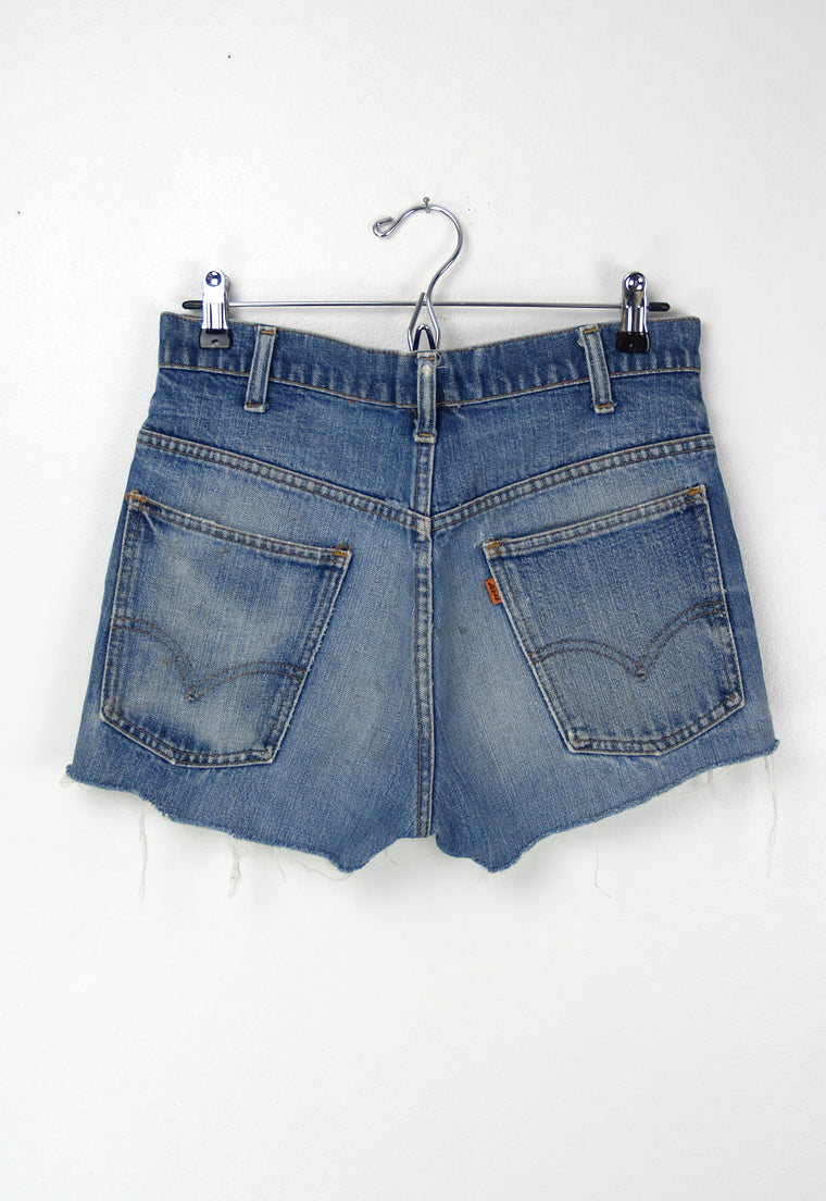 Vintage Orange Tab Levi's Denim 1970's Cutoff Jean Shorts