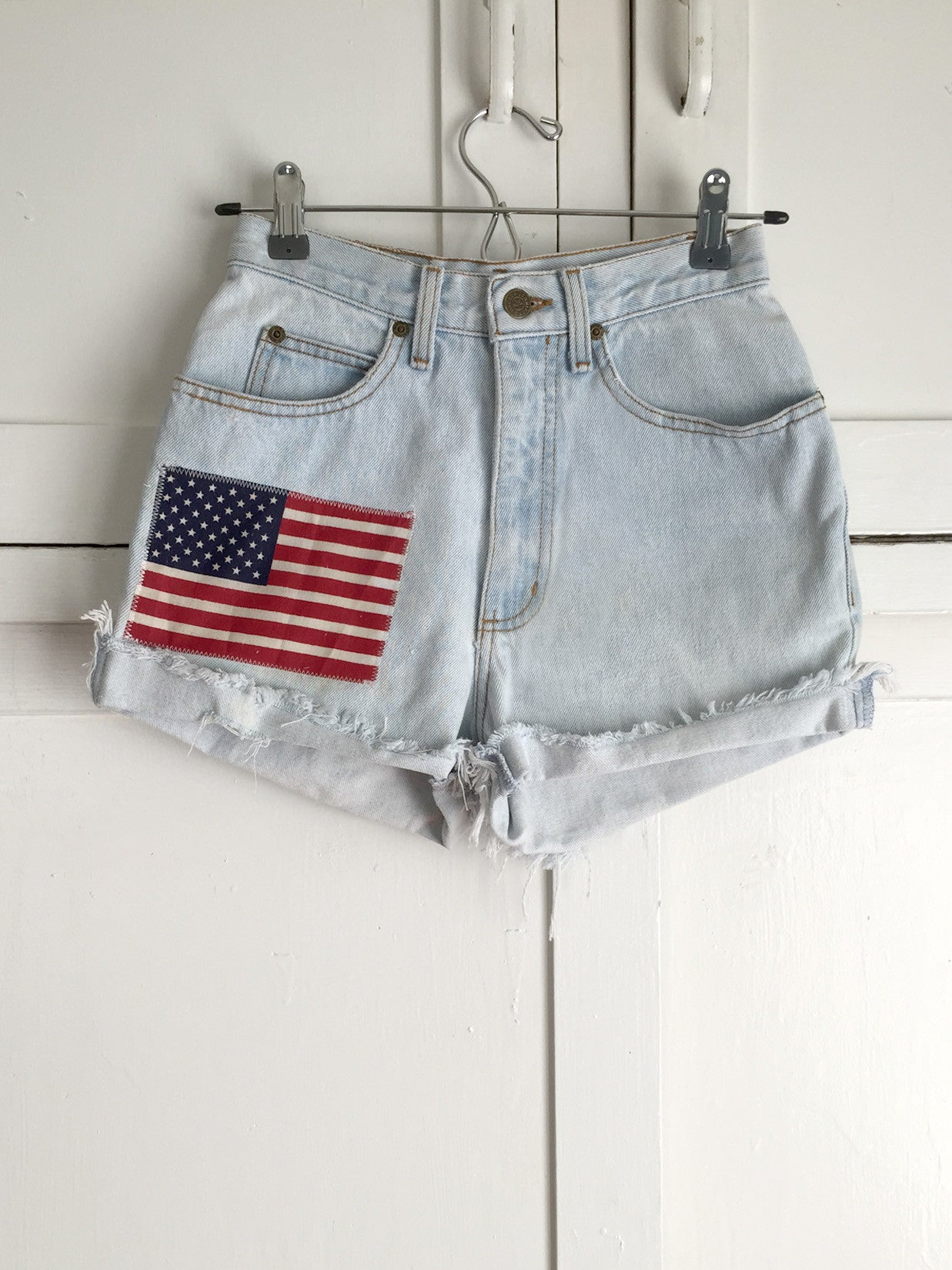 Re-purposed Vintage Denim All American Girl Shorts