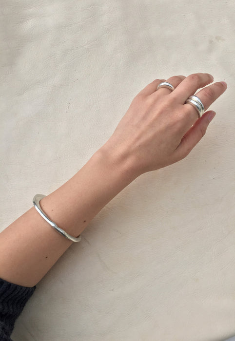 Sterling Silver Sand Cast Stackable Ring