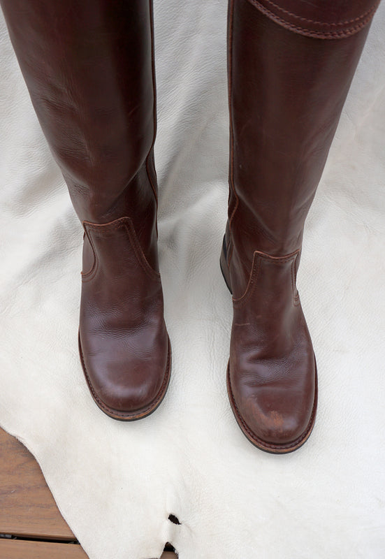 Idylwild Vintage Second Hand Tall Equestrian Riding Boots Made in Spain