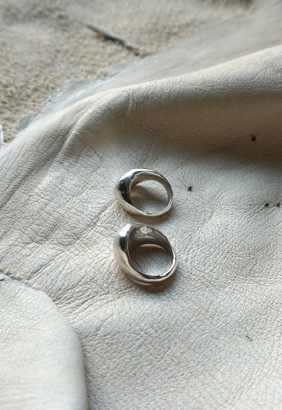 Organic Free Form Minimalist Asymmetrical Solid Sterling Silver Statement Ring Cashmere Cactus Hand Made Desert Jewelry