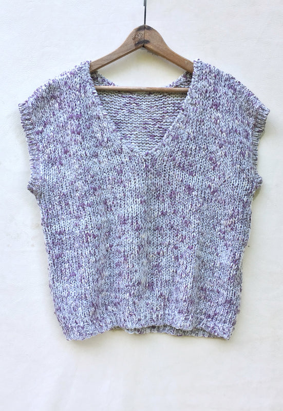 Idylwild Vintage Hand Knit Scoop Back Sweater
