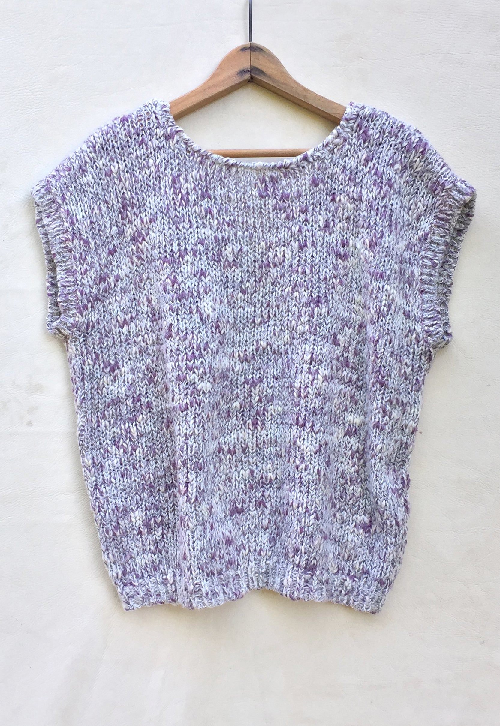 Lavender Mélange Sleeveless Sweater