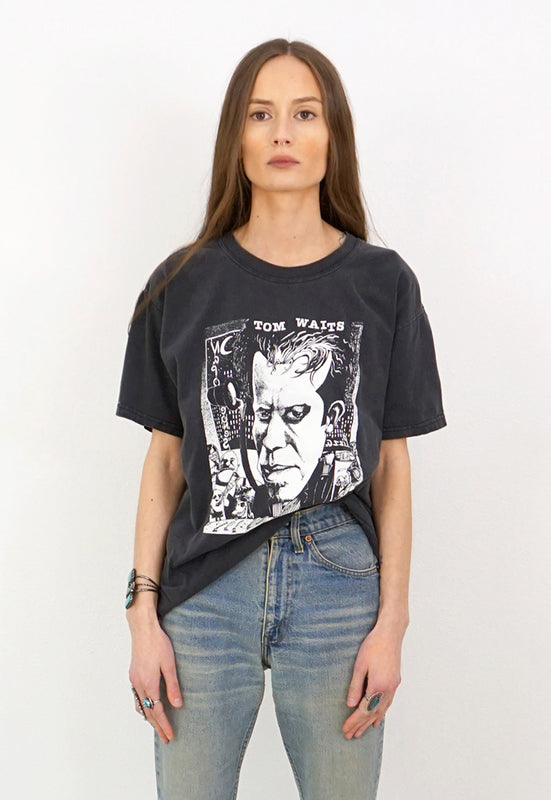 Idylwild Vintage Tom Waits Washed Black Tee