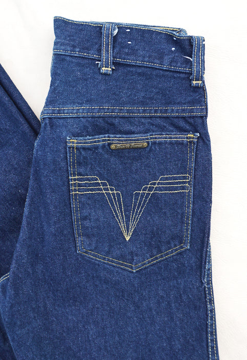 Idylwild Vintage Raw Denim High Waist Straight Leg Jeans