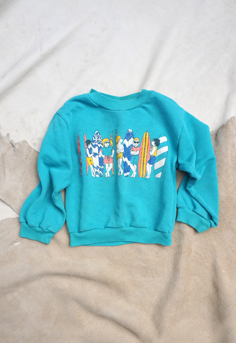 Vintage 80's California Surf Culture Kid's Sweatshirt