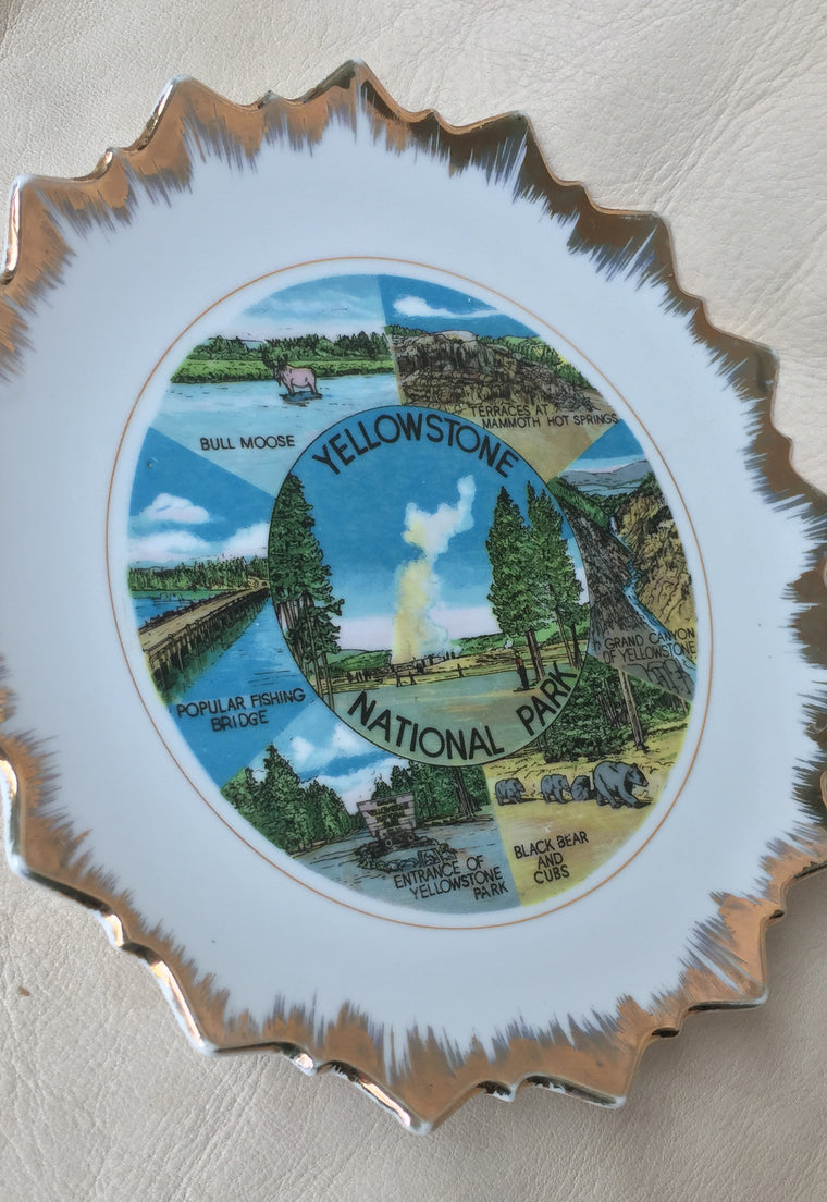 """Yellowstone National Park"" Decorative Plate"