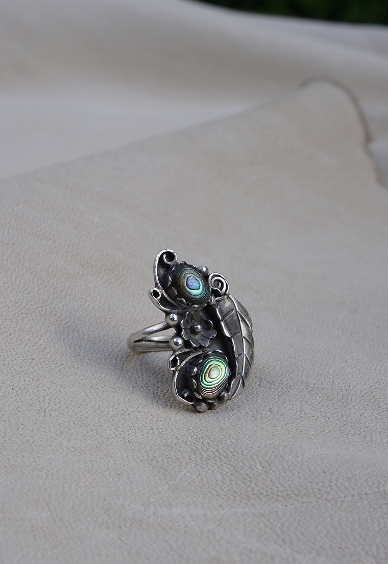 Abalone Native American Ring