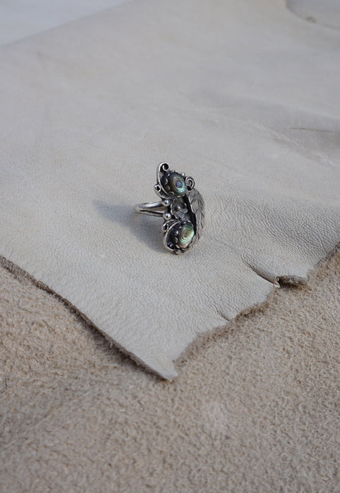 Abalone Sterling Silver Native American Ring