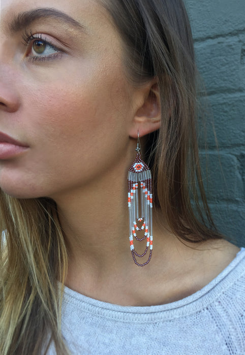 Handmade Beaded Opalized 'Sparklin' Earrings