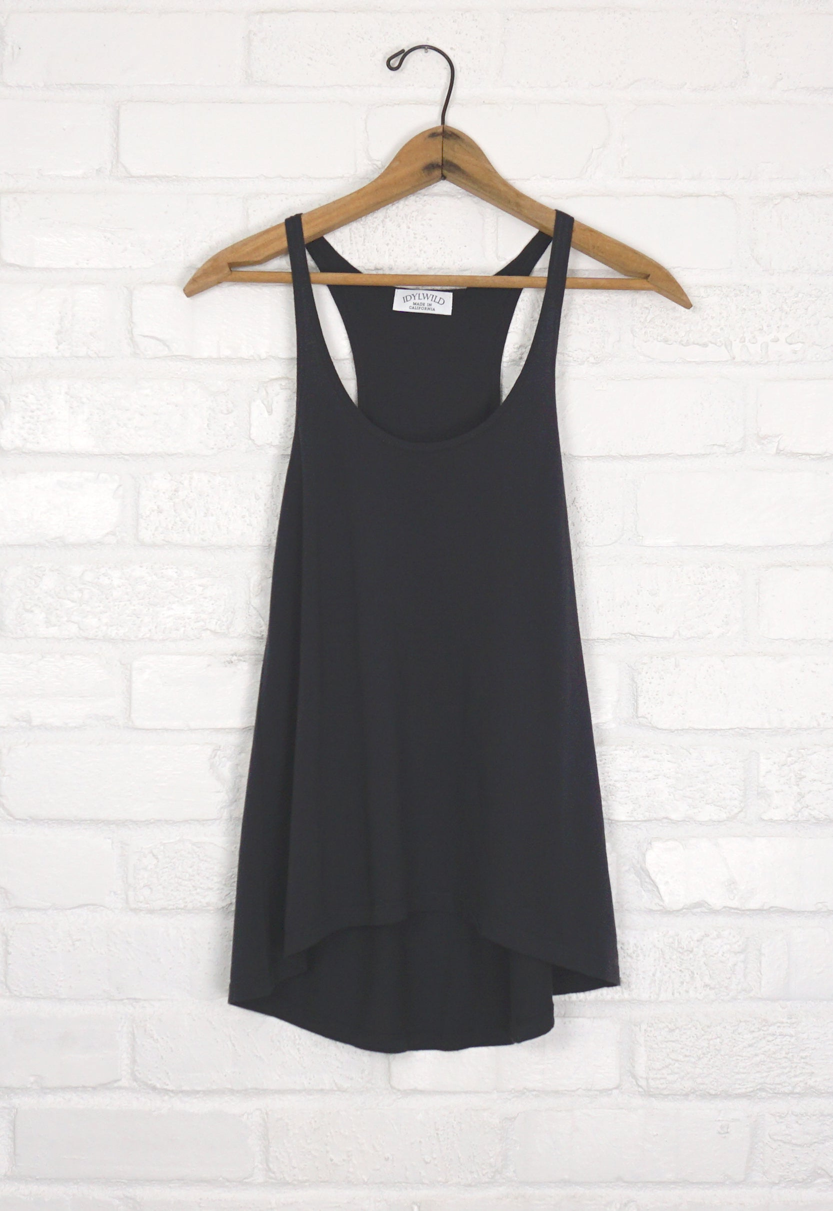 Idylwild A-Line Tank - Washed Black