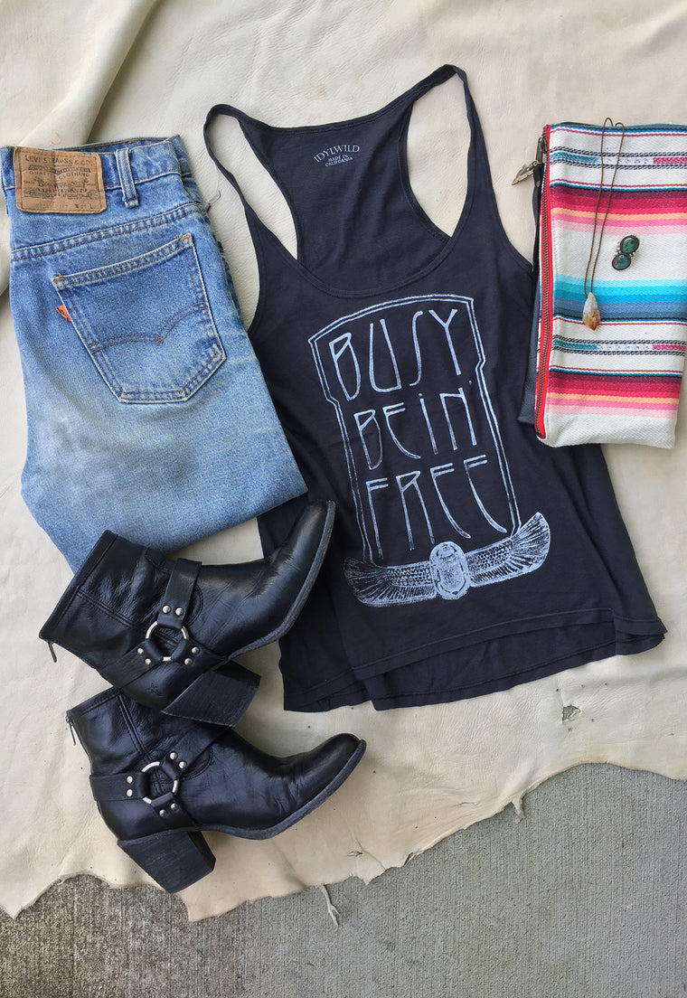 "Busy Bein' Free ""Joni"" A-Line Tank"