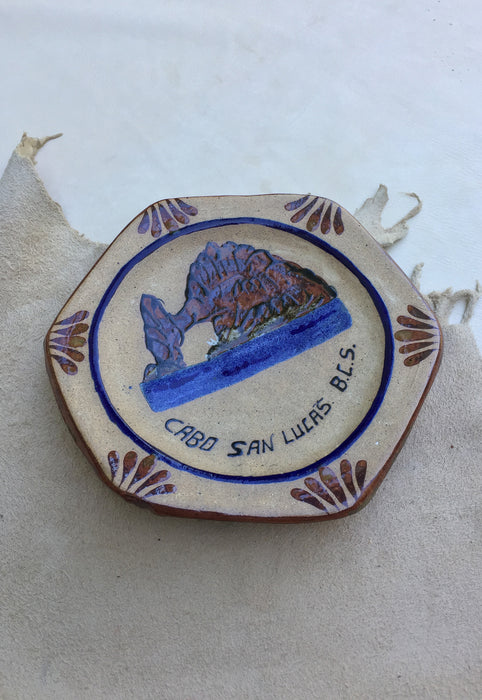 'Cabo San Lucas B.C.S.' Decorative Stoneware Folk Art Catchall