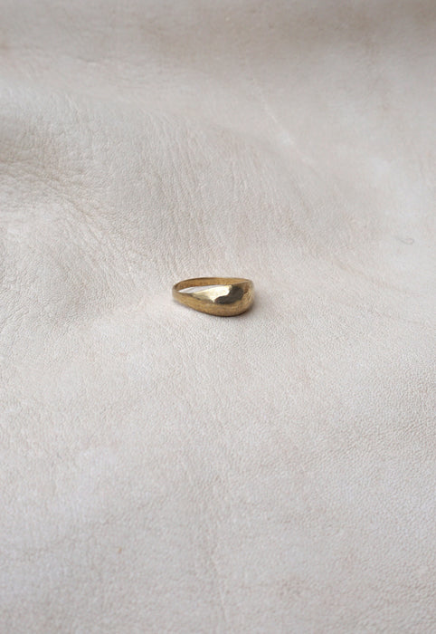 Mountainside Made Jewelry Brass Cairo Bump Pinky Ring
