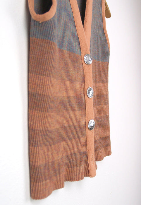 Buffalo Nickel Desert Sand Sweater Vest