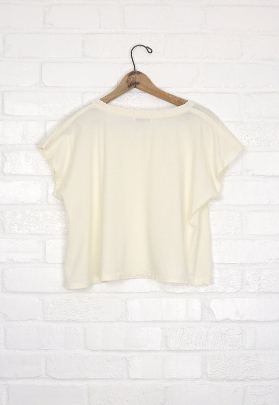 Idylwild Woods Whipped Cream Crop Top Tee