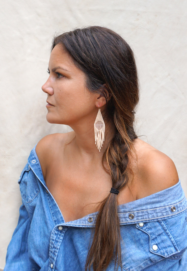 Dawn Handwoven Beaded Earrings