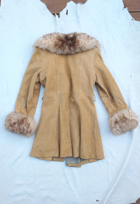 Beautiful Vintage Deerskin Jacket with Shearling Collar