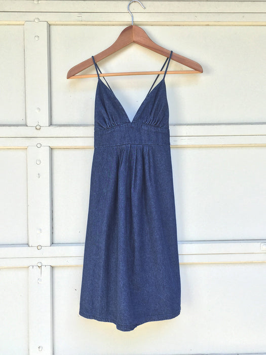 Vintage Triangle Top Denim Dress
