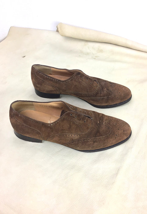 Vintage Salvatore Ferragamo Laceless Oxford Shoes