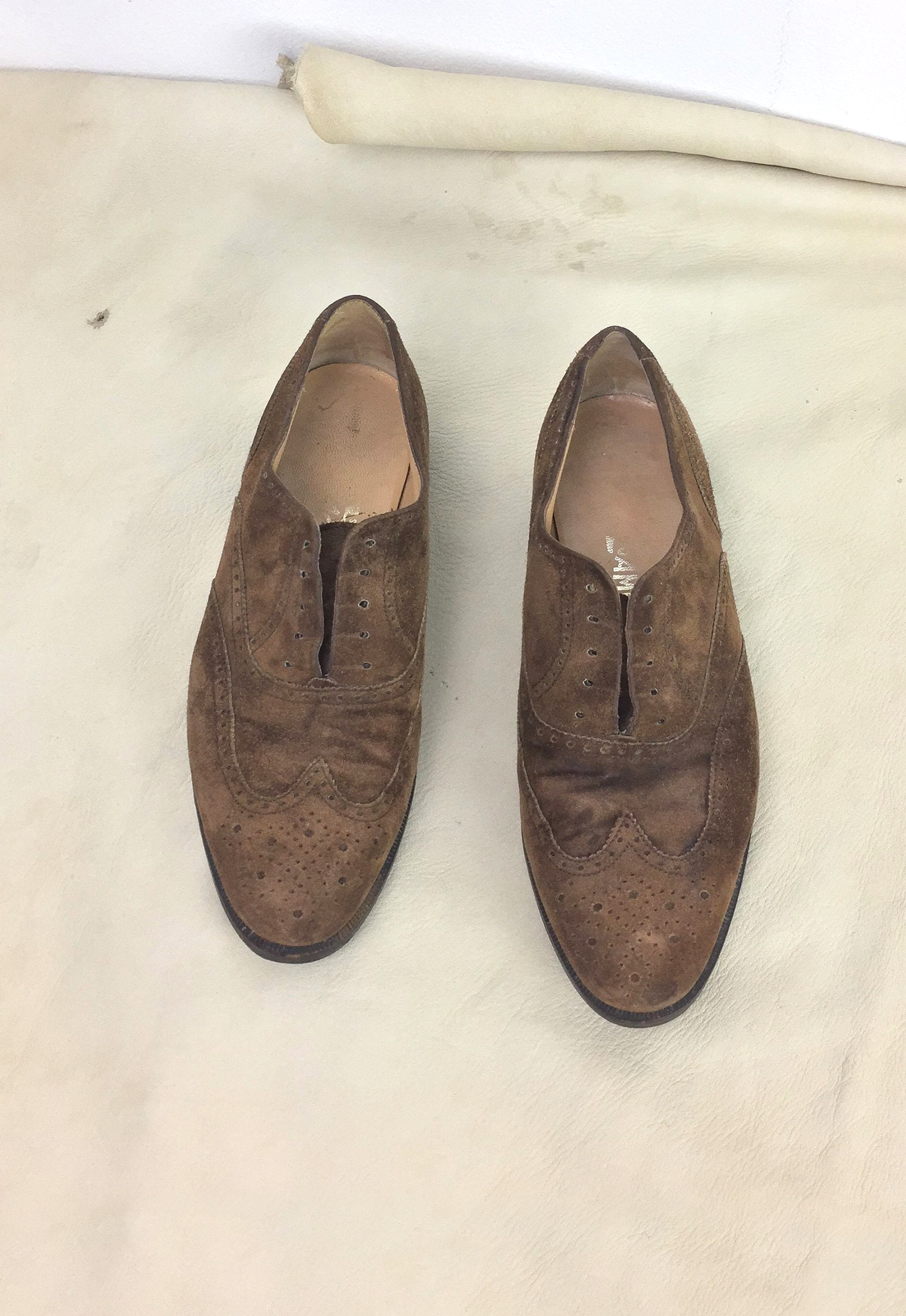 Vintage Ferragamo Laceless Oxfords