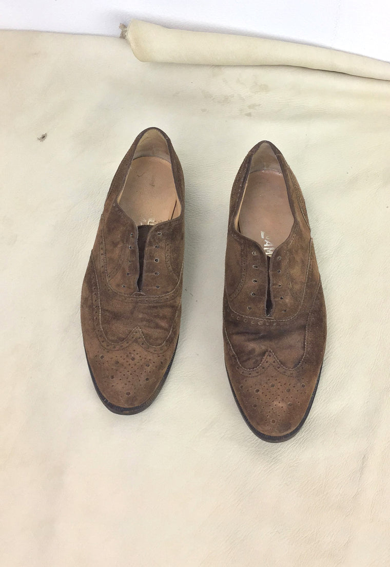Vintage Ferragamo Laceless Oxford Shoes
