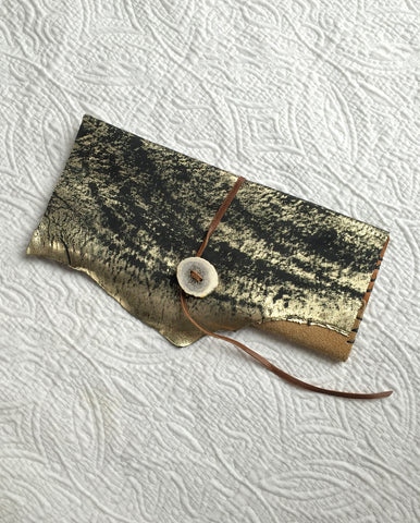 Gold Dust 'Antler' Wallet/ Clutch