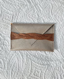 """Gather & Spill"" Metallic Taupe & Tan Teeny 'Heidi' Pouch"