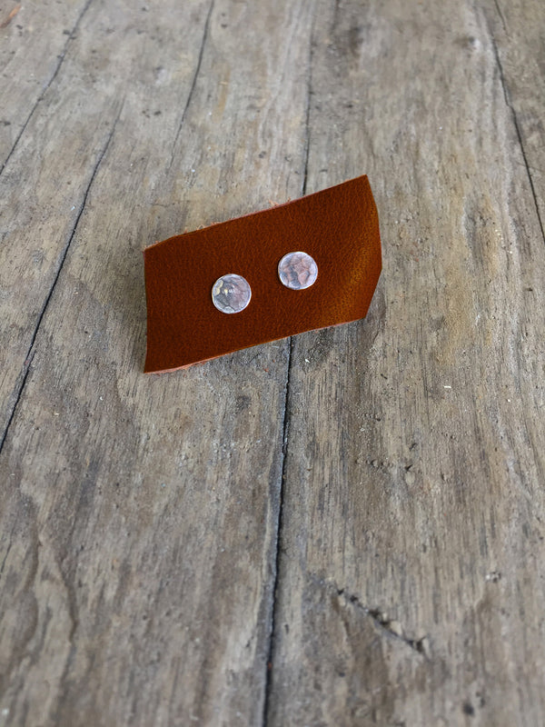 Sterling Silver Hammered Stud Earrings