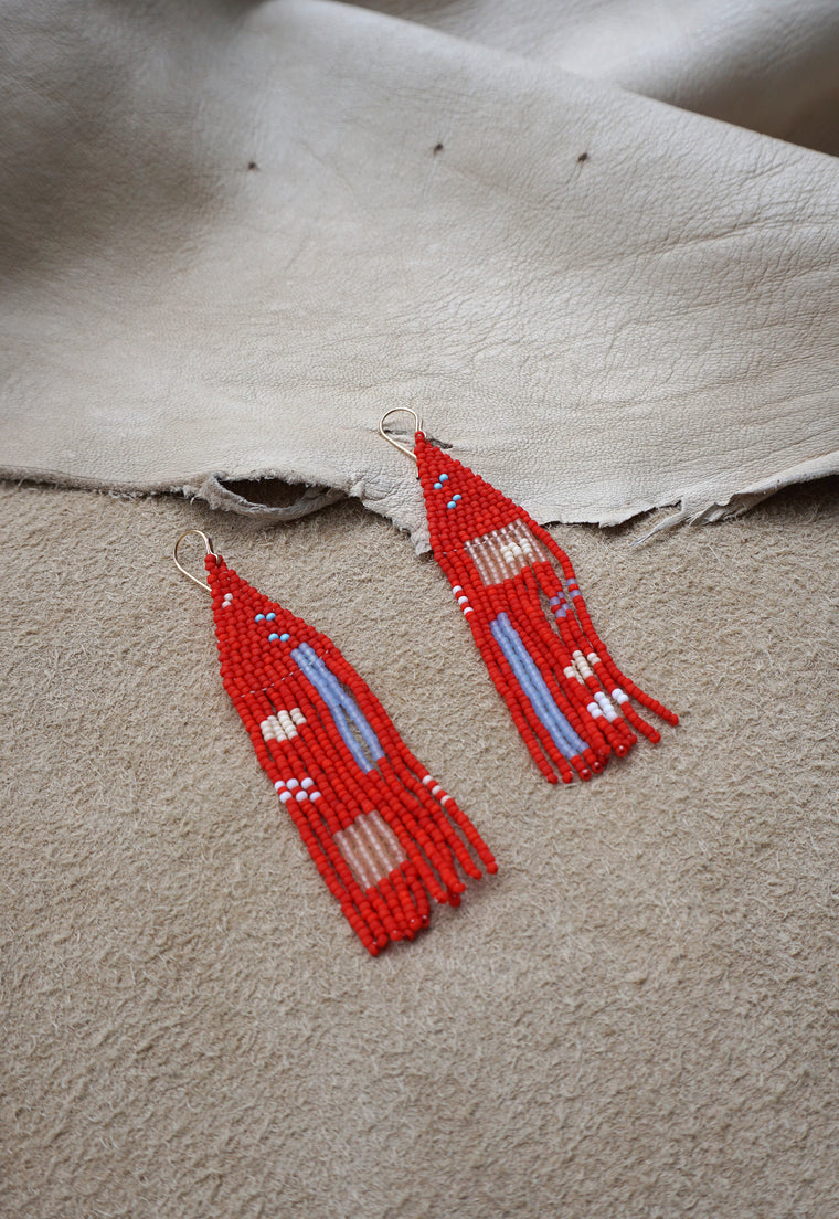 Lagos Bloom Handwoven Beaded Earrings