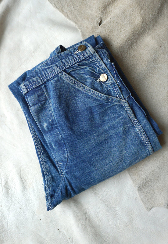 Idylwild Vintage Lee 100% Cotton Denim with Incredible Patina