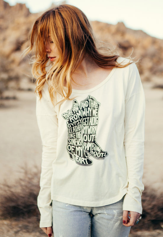 """Rambling Boots"" Long Sleeve Tee"