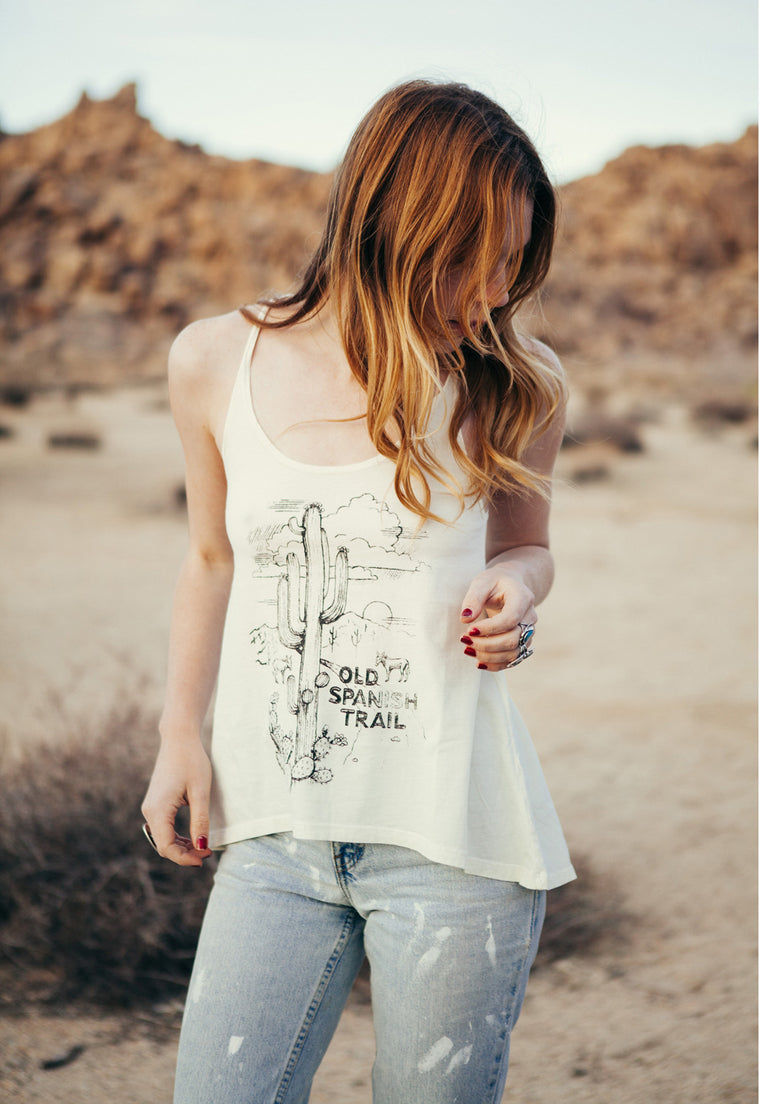 "Whipped Cream ""Old Spanish Trail"" A-Line Tank"