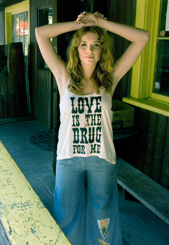 """Love is the Drug"" A-Line Tank"