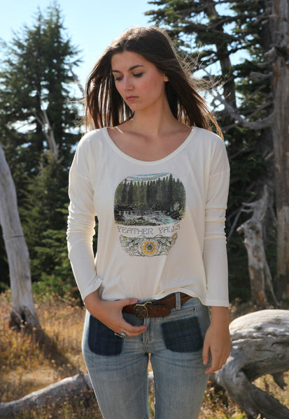 """Feather Falls"" Long Sleeve Tee"