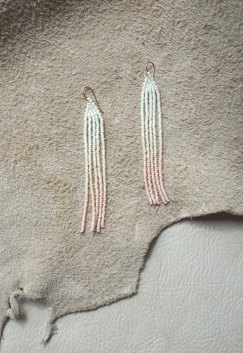 Studio Oma Magnolia Ombre Pink Beaded Earrings